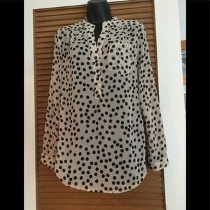 Dress barn polka dot Blouse
